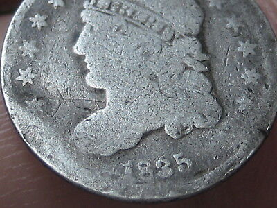 1835 Silver Capped Bust Half Dime, Small Date