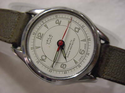 Vintage large antique WWII World War II MILITARY YALE TUFFY mens watch . NR
