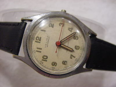 Vintage large antique WWII World War II MILITARY HELIOS mens watch NR