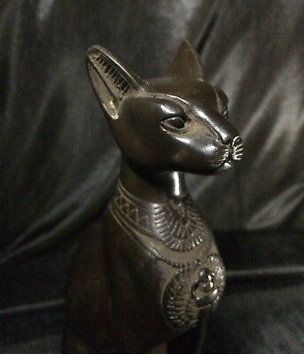 EGYPTIAN BASTET ANTIQUITIES GODDESS Pharaohs Ubasti Cat Statue Egypt Stone BC