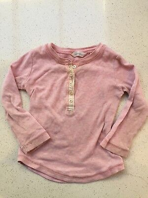 Country Road long sleeved Henley top size 12-18 Months winter Pink Tee