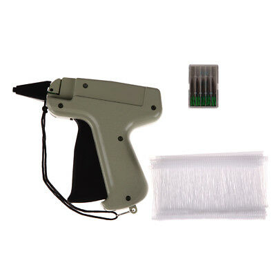 "Clothes Garment Price Label Tagging Tag Attaching Gun 3"" 1000 Barbs + 5 Needles"