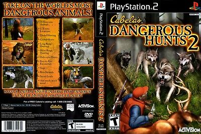 Cabela's Dangerous Hunts 2 - Playstation 2 Tested & Working FAST SHIPPING