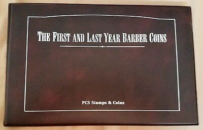 PCS Stamps and Coins - The First and Last Year Barber Coins