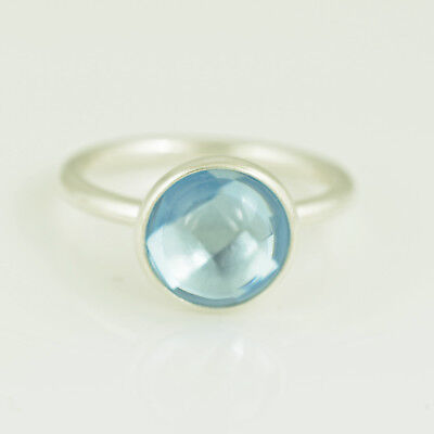 daf013dbf GENUINE PANDORA SILVER Aqua Blue Poetic Droplet Ring - 190982NAB ...