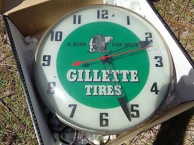 Gillette Tire Pam Clock 1950s