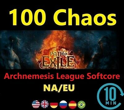 100 Chaos Orb - SYNTHESIS League Softcore (Path of Exile EU/NA POE) SC 100c