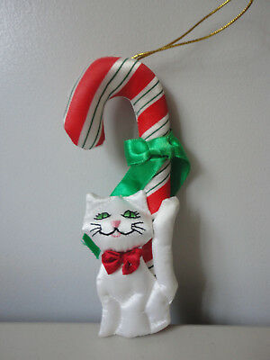 Fancy Feasts Russ Kitty Cat Candy Cane Ornament