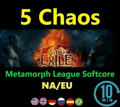 5 x Chaos Orb - Synthesis League (Path of Exile EU/NA POE Softcore) 5c SC