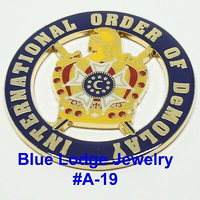 International Oder Of DeMolay Car emblem #A-19 Masonic Family