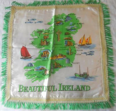 Vintage Printed Acetate Panel Beautiful Ireland Suit Cushion Front Frame Doily