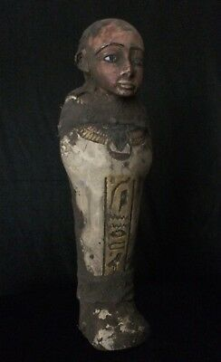 EGYPTIAN USHABTI ANTIQUITIES Statue Amenhotep Shabti ANCIENT EGYPT Stone 1550 BC