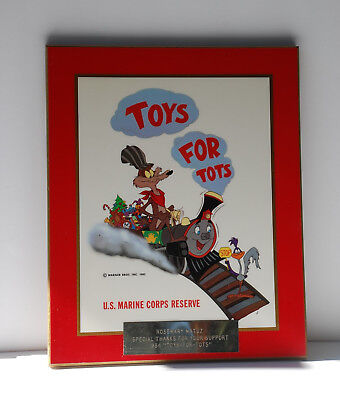 Looney tunes / US Marine Corps / Toys for Tots award plaque