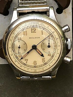 Mildia Chronograph Mens Wristwatch Valjoux movement Swiss