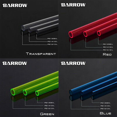 4 Pack Barrow PETG Rigid Hardline Tube 12mm 14mm 16mm x 50cm OD Tubing