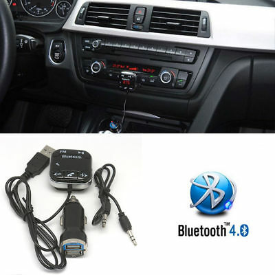 Inalámbrico Bluetooth coche reproductor MP3 FM Transmisor Radio LCD USB Cargador