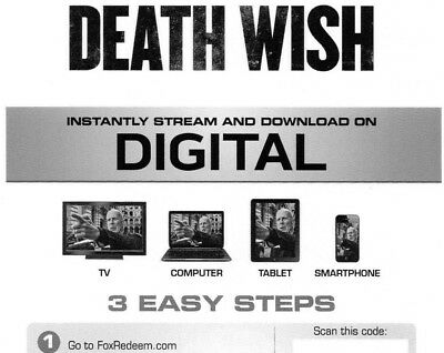 Death Wish Digital Canadian Code ***BRAND NEW*** sent by e-mail