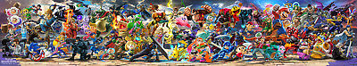 "Super Smash Bros. Ultimate Banner Poster 129x24"" 86x16"" 43x8"" Game 2018 Silk"