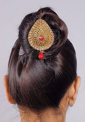 HP-27 Ethnic Most Beautiful Gold Tone Bun Pin Hair  Wedding Hair & Head Jewelry
