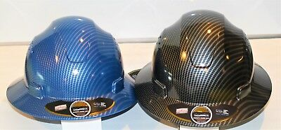 HDPE-Hydro-Dipped-Black/Silver&Blue/Silverm-Hard-Hat-PACK OF 2 HARD HATS