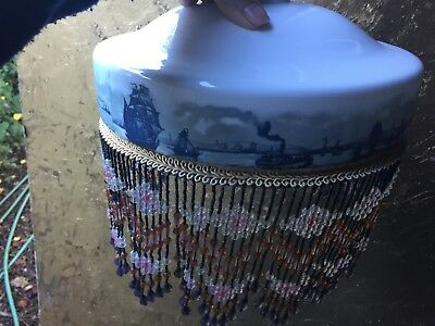 Lovely painted beaded  shade