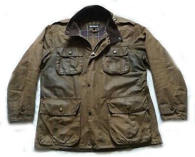 "Superb Barbour ""  Trooper "" Wax Military Style Jacket - Large - Cost £225"