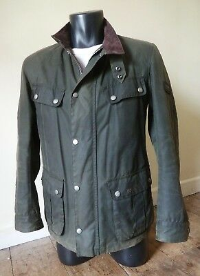 "Superb Barbour "" Duke  "" Waxed Motorcycle Style Jacket - S - £225 - Mcqueen Vgc"