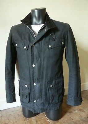 "Superb Barbour "" Duke  "" Wax Motorcycle Jacket - S - Steve Mcqueen - £225 - Vgc"