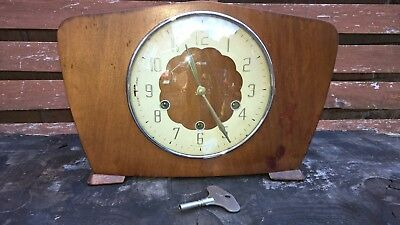 Smiths westminster  mantel clock chime every 15 minutes in Fully working