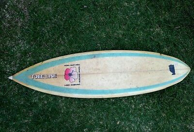 Vintage Surfboard Single Fin Tubeline Tony Dempsey Custom 6' Quality Collectible