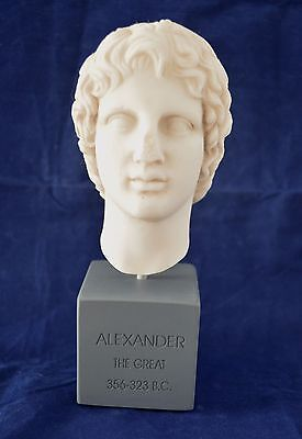 Alexander the Great sculpture Macedonian king reproduction small Bust
