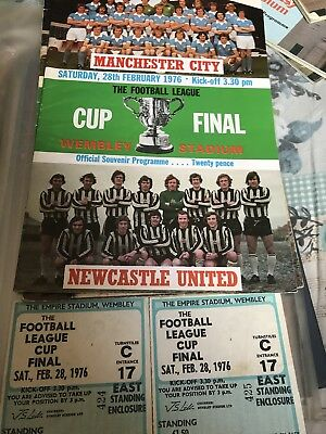 Manchester City V Newcastle Cup Final Programme