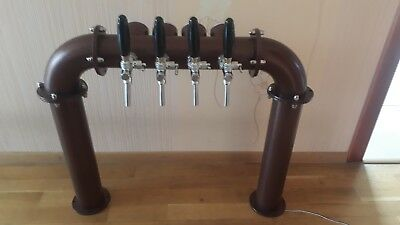 Draft Beer Tower  - 4 Faucets cooper