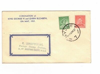 Australia 1937 1d & 2d on FDC, cds Sydney NSW