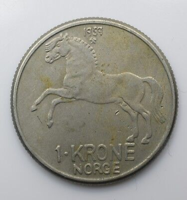 1959 Norway One 1 Krone - Olav V - Lot 36