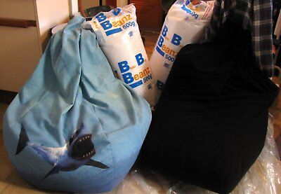 2 Bean Bags + 2 New Refill Bags (Total cost $165) 1 Beanbag New / 1 Pre owned