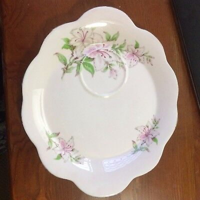 🌟 Eb Foley 1850 England Pink Lily Tennis Set (Saucer/plate Only) No Cup