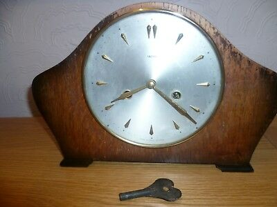 Vintage SMITHS Napoleon Hat Chiming Wooden Mantle Clock - 224