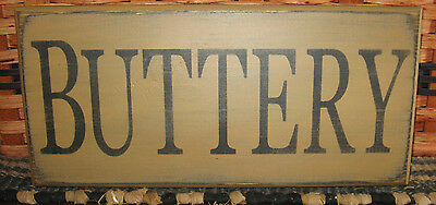 """Primitive  Country Buttery 12""""  Sign"""