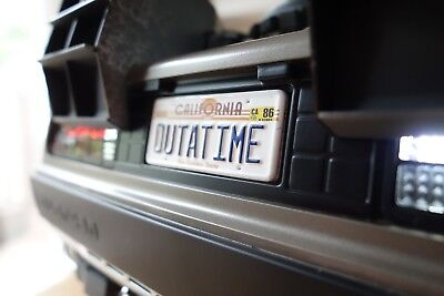OUTATIME Plate - 1/6th Scale for Hot Toys Delorean - Double-Sided - BTTF