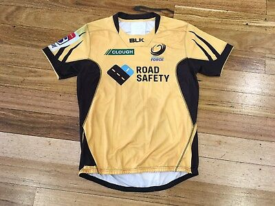 Rare Player Issue #4 Match Worn Western Force Super Rugby Jersey Gps Pocket 2Xl