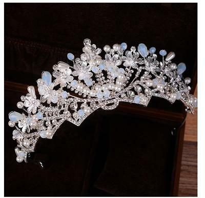 Luxury beads Crystal Drip CZ Adult Wedding Bridal Party Pageant Prom Round Crown