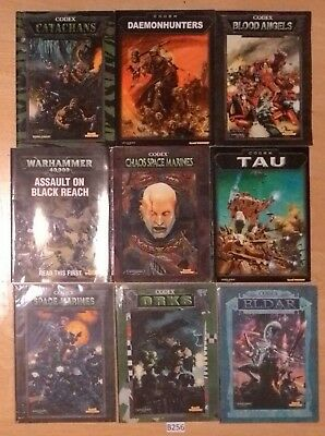 B256 Warhammer 40k Assorted 3rd Ed Codex (Poor to Average condition)