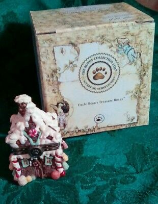 """The Boyds Collection: Uncle Bean's Treasure Box """"Sugar Chalet w/Pudge McNibble"""""""
