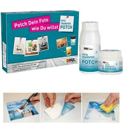 Kreul Foto Transfer Potch Hobby Line, 150 250 o. 750 ml, Neues Set 4teilig, Lack