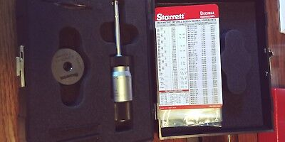 Starrett 78Z-312. Internal micrometer 3 point carbide contacts with setting ring