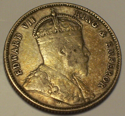 British Honduras, 1907 Edward VII Twenty Five Cents, 25 Cents. 60,000 Mintage.