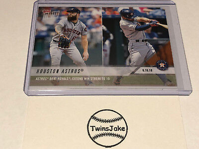 2018 Topps NOW MLB 331 Houston Astros Beat Royals, Extend Win Streak to 10