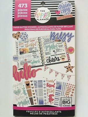 Create 365® The Happy Planner ® PAPER GLITTER Sticker Value Pack 473 NEW