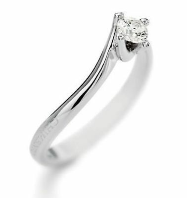 Solitaire Diamant Or Blanc Chimento Taille 58